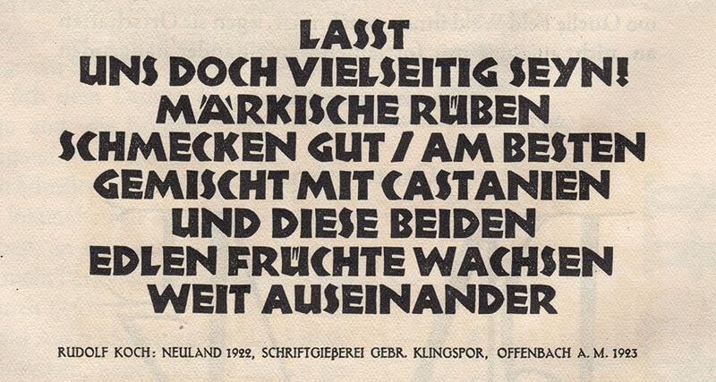 Die Neuland (1923) von Rudolf Koch