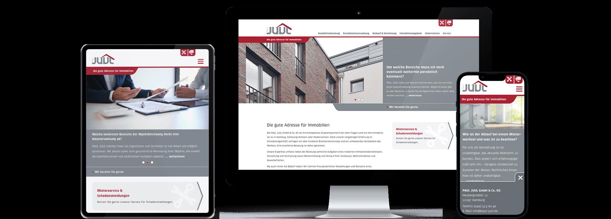 Website Paul Juul GmbH & Co. KG